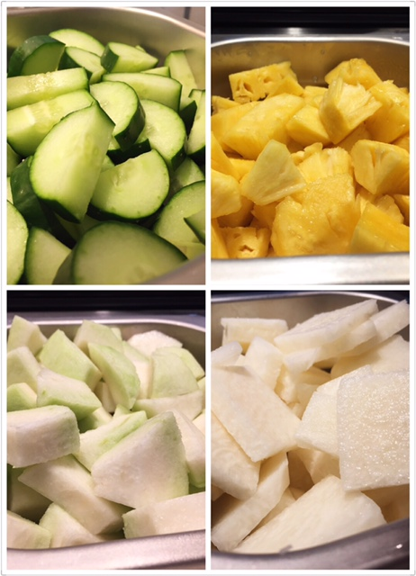 Rojak ingredients